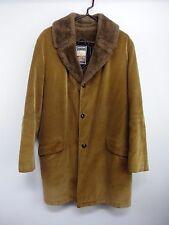 Vintage Mighty-Mac Out O'Gloucester Tan Corduroy Coat Jacket Mens L Faux Fur