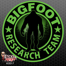 "Bigfoot Research Team ""Green"" Sticker - Sasquatch Yeti Car Truck Window Decal"