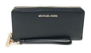 Michael Kors Jet Set Travel Large Travel Continental Wristlet Wallet Clutch