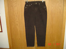 NOS NWT LEE EASY FIT STRAIGHT LEG Black Stone Denim Jeans 12 PETITE USA P176