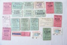 More details for assorted railway train ticket x21 london transport british rail southern