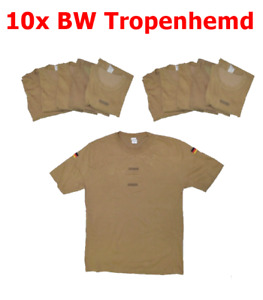 10x Pack Original BW Bundeswehr Unterhemd T-Shirt, Tropenhemd, Hemd, Tropen !