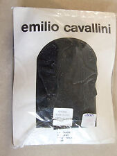 Vintage Emilio Cavallini BNIP M Black & Silver Bling Fleck Elegant Party Tights