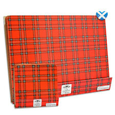 8 Piece Red Tartan Dinner Table Mat Placemats & Drinks Coaster Set NEW BOXED