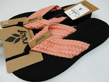 REEF WOMENS SANDALS CUSHION THREADS CORAL SIZE 10
