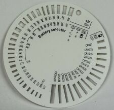 Battery selector chart type gauge watch size tool sizer cell batteries measure