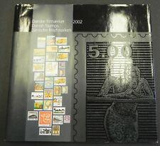 Jaarboek 2002 Denmark year book Dänemark Jahrbuch Danemark Livres des timbres 02