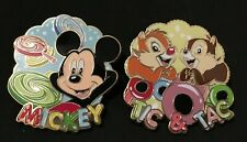 Disney Dlp Cupcake Series Mickey Mouse Chip and Dale Tic Tac Lot of 2 Pins Treat