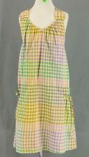 347 Crewcuts girl green yellow purple plaid dress EUC Size 10Y