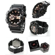 CASIO G-SHOCK, GA400GB-1A4 GA-400GB-1A4, ANALOG DIGITAL, BLACK x ROSE GOLD TONE