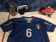 Italy National Team Roma De Rossi 2010 Soccer Replica Jersey Small Italia c15