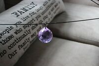 VINTAGE (15)  Faceted Crystal Chandelier 40mm Prism PURPLE Stunning Perfect!