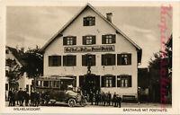 AK Wilhelmsdorf (Württemberg) Lks. Ravensburg, Gasthof zur Post, Postauto, 14/02