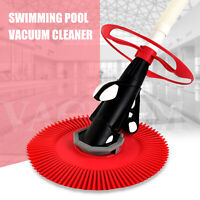Automatic Suction Side Climb Wall Swimming Pool Vacuum Cleaner 30ft Hose Set Red