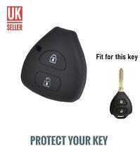 Black Silicone Flip Key Cover Fob For RAV4 COROLLA PRADO CAMRY HILUX /-ci2a-/