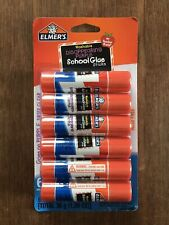Elmer's Disappearing Purple School Glue Sticks - 6 Count - Washable - Acid Free