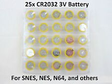 25 Replacement Battery - Super Nintendo NES SNES CR2032 Tabbed Tab Batteries