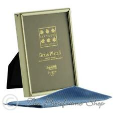 3x2 inch Brass Plated Photo Frame Sixtrees Hartford 1-400-23