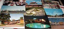 16 Vintage ILLINOIS 40's/50's/60's RESTAURANT~HOTEL~MOTEL Linen-Chrome USA PCs