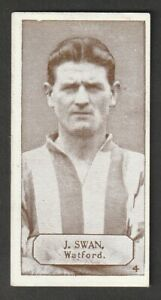 LACEY,s Chewing gum Football issue 1925 J SWAN WATFORD