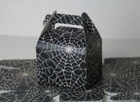 50 Halloween Costume Party Spider Web Black Candy Treat Boxes Favor Box Gift Box