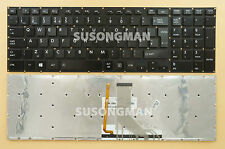 NEW for Toshiba Satellite P50-B P50T-B Keyboard Backlit NO Frame UK