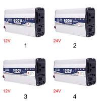 600W 1000W 12V 24V To 220V Power Inverter Pure Sine Wave Practical Car Adapter