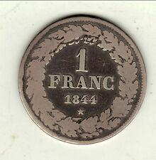 BELGIQUE LEOPOLD 1ER 1 FRANC ARGENT 1844