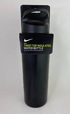 Nike Twist-Top Insulated Water Bottle 24Oz Black Bpa Free Nobg306824 New