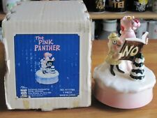 "Pink Panther Music Box Royal Orleans Noel 7"" Tall Ceramic Mib"
