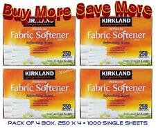 New, 4-Kirkland Signature Refreshing Scent Fabric Softener, Buy More Save More
