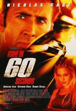 GONE IN 60 SECONDS Movie POSTER 27x40 B Nicolas Cage Angelina Jolie Giovanni