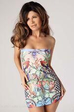 Sexy Stretch Tube Minidress/Tropical Print/Made in usa/s-m/Dancer/Stripper/Rave