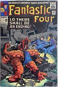 FANTASTIC FOUR #43 FRIGHTFUL FOUR, STAN LEE, Jack Kirby, THING REJOINS FF