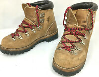 Vasque Roughout Leather Womens Boots Size 6 Vibram Soles Hiking Mountaineering