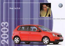 VW Volkswagen POLO 1.6 2.0 Prospekt Brochure Sheet BRASIL Brasilien 2002 81