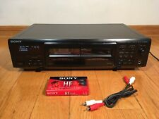 Sony TC-WE405 Dual Stereo Cassette Double Tape Deck Recorder 1996 TESTED 100%