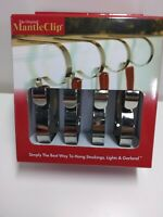 Original Mantle Clip adjustable Hook to hang Christmas Stocking Fireplace Silver