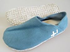 OTZ CORK LITE Light Blue Linen Slip On Loafers Shoes EU 42 Women's US 12 Men's 9