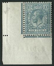 SG394 Spec N31 za 10d Turquoise variety missing crown in bottom margin V/F/M