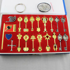Anime Fairy Tail Lcuy Celestial Spirit Gate Keys Necklace Set 20pcs New in Box