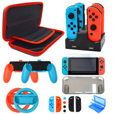 Accessories for Nintendo Switch Carrying Case Wheel Joy Con Grips Charger Kit
