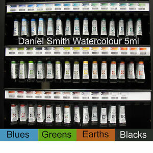 Daniel Smith extra fine artist watercolour 5ml - blues, greens, earths, blacks
