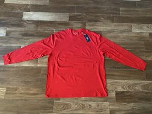 NEW WITH TAGS Men's Vineyard Vines T-Shirt RED XXL Long Sleeve Solid Color Shirt