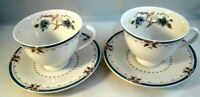 Royal Doulton Old Colony Tea Cups Saucers Set of 2 China TC1005 Made In England