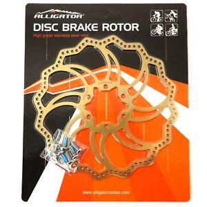 ALLIGATOR Starlite MTB Road Bike Disc Brake Rotor 160/180/203mm - Ti Gold