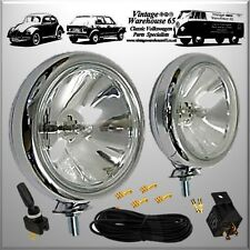Rover Classic Vintage Chrome Spot Lights Fog Lamps & Relay Switch Wiring Kit