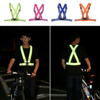 Reflective Vest Harness High Visibility Running Walking Cycling Sport Safety Top