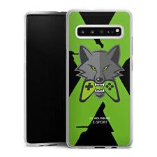 Samsung Galaxy S10 5G Silikon Hülle Case Handyhülle - VfL Wolfsburg X eSport