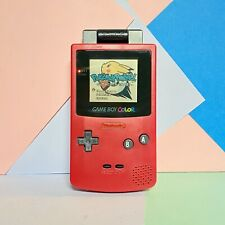 Nintendo Game Boy Colour  Red / Pink / Ruby? New Shell Fitted! + Pokemon Pinball